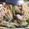 Lemon Chicken Pasta with Fresh Asparagus