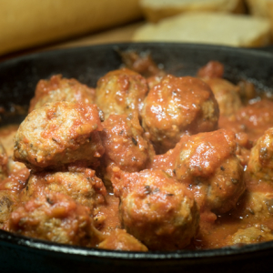 Italian Style Meatballs and Sauce