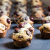 Fresh Cherry Muffins with Dark Chocolate Chips