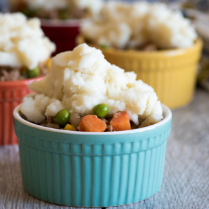 Shepherd's Pie - topped with instant mashed potatoes