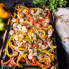 Easy Shrimp Fajitas - straight from oven to table in no time flat!