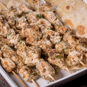 Greek Chicken Skewers -