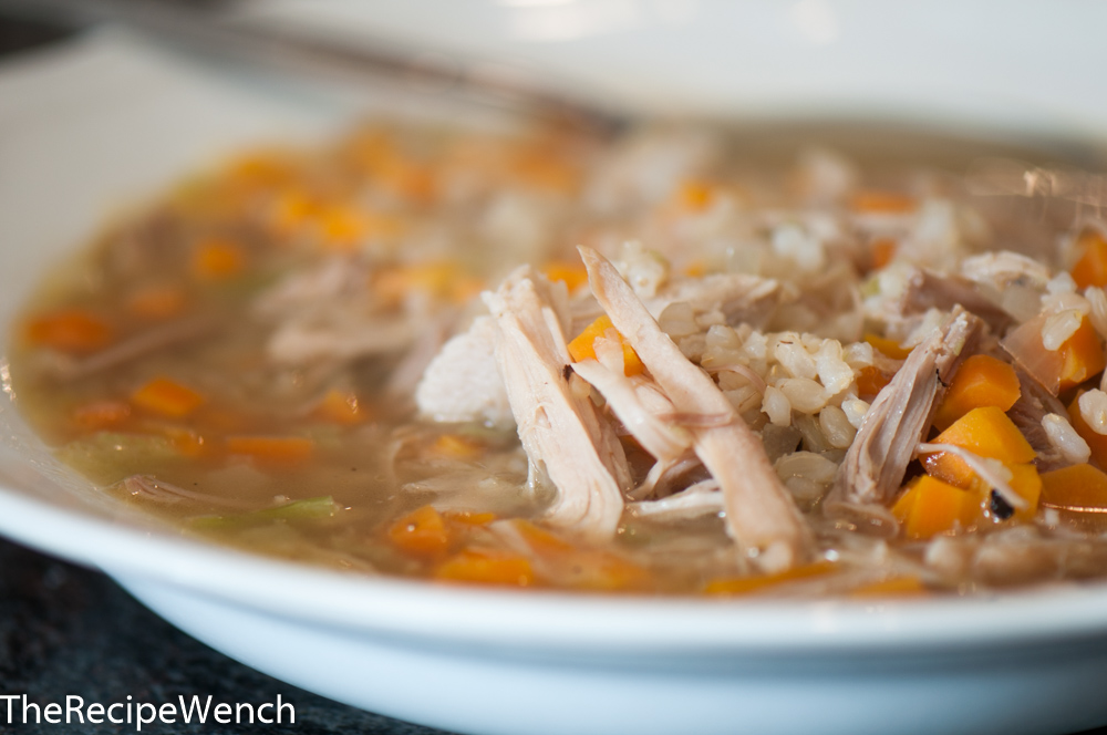 how to cook brown rice with chicken broth