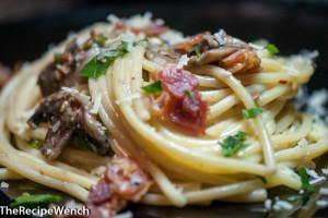 Spicy Bacon Mushroom Carbonara
