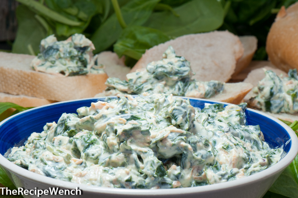 Spinach Dip With Fresh Baby Spinach - The Recipe Wench