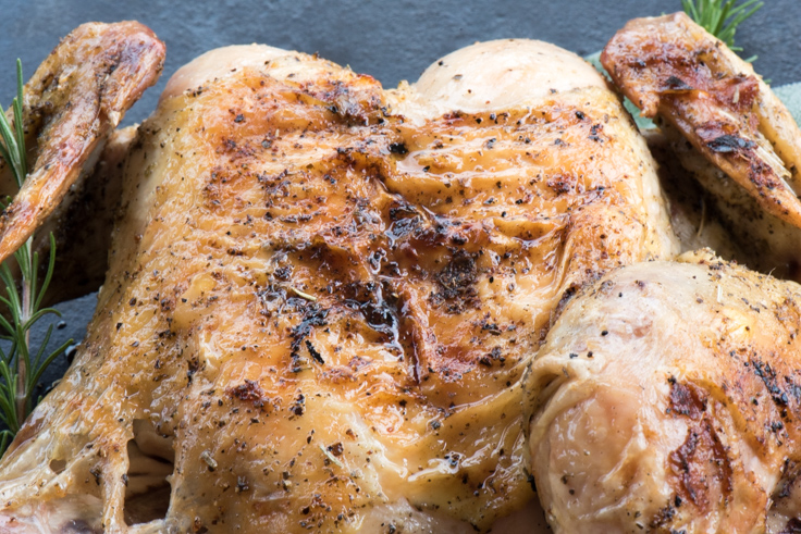 Delicious and easy, this whole grilled butterflied chicken is a great ...