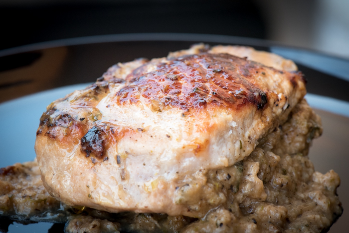 Herb Stuffed Pork Chops - The Recipe Wench